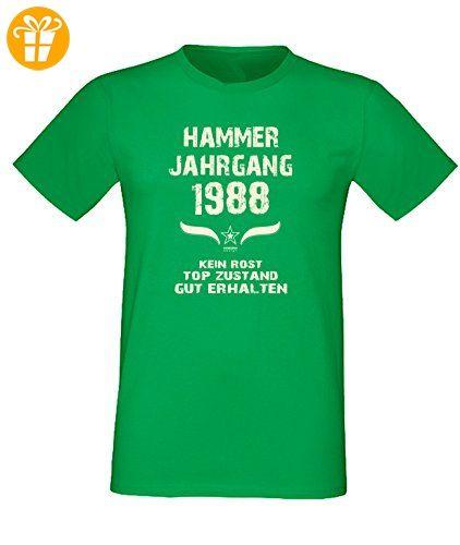 Sprüche Fun T-Shirt Jubiläums-Geschenk zum 29. Geburtstag Hammer Jahrgang  1988 in