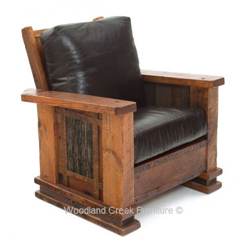 Mountain Lodge Style Rustic Chair Available at Woodland
