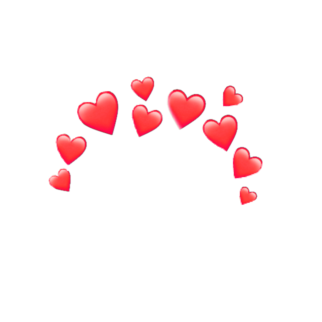 Red Hearts Redhearts Headcrown Crown Heartcrown Tumblr Heart Overlay Sticker Art Cute Disney Wallpaper