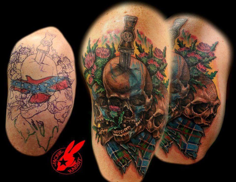 e975a1f03e89f Scottish Skull Cover Up Tattoo By Jackie Rabbit By – Fondos de Pantalla