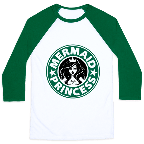 Claim your throne as the Mermaid Princess of caffeine with this super cute baseball tee!