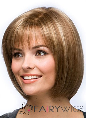 Best Short Straight Blonde 12 Inch Indian Remy Hair Wigs | Full Lace ...