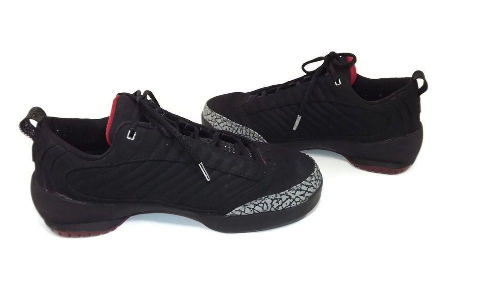 975ddbafe1ea13 NIKE Air Jordan 19 XIX MENS RETRO Low Black Varsity Red Sneakers Size 11 M  11M  Nike  BasketballShoes