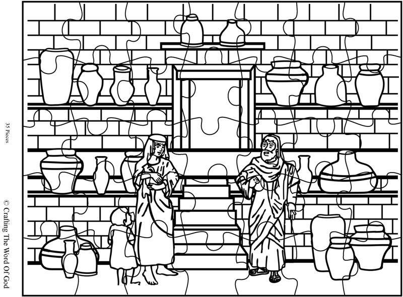 Elisha And The Jar Of Oil Puzzle (Activity Sheet) Activity