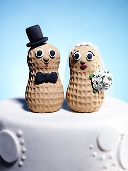Peanut Wedding Cake Topper 3 Wedding Cake Toppers Cake Toppers