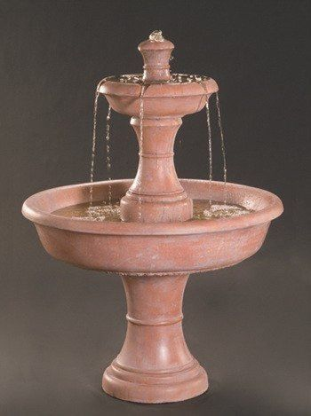 Shasta Two Tier Garden Fountain | Tiered Garden, Garden Water Fountains And  Fountain