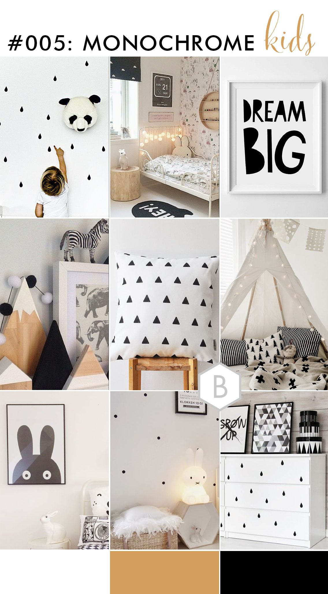 Monochrome Kids Room Decor Inspiration Monochrome Room decor