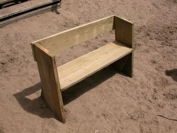 Easy Beach or Garden Bench Out of Scrap Wood Scrap Woods and Beach