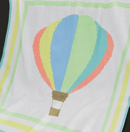 Crochet Pattern//Patterns HOT AIR BALLOON Color Graph Baby Afghan Pattern *EASY