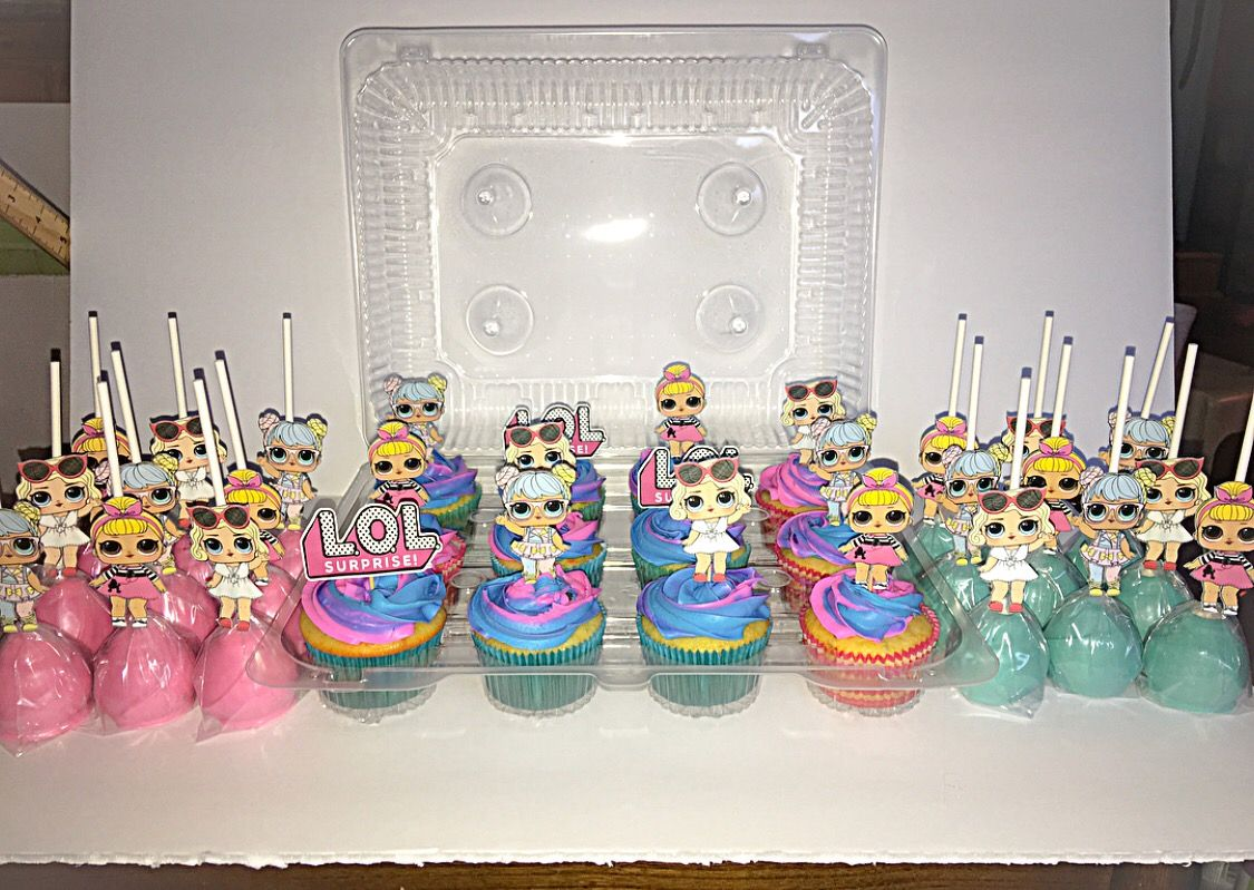 Lol Surprise Dolls Birthday Cupcakes Cake Pops Lol Doll Party