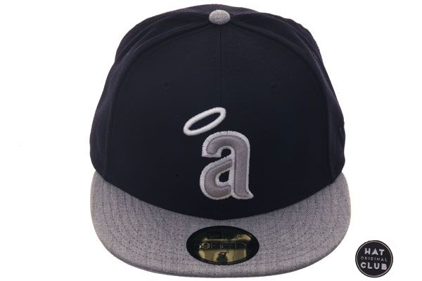 b6f69db7ffa Hat Club Original New Era 59Fifty Los Angeles Angels 1972 Fitted Hat - 2T  Navy