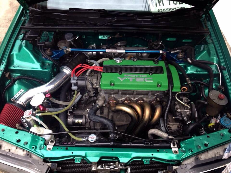 H22a Cl1 Engine Green Cover Paint Swap Into Accord Cb3
