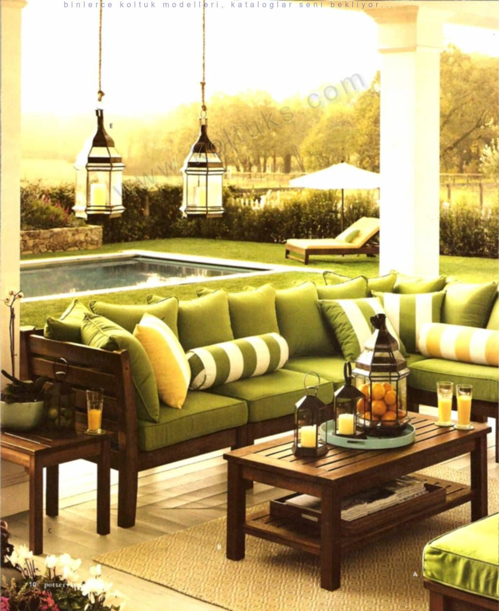 Photo of Pistachio Green Garden Sofa Set