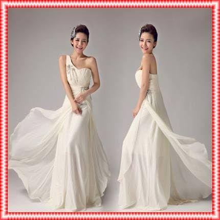 Photo of Französisches elegantes Brautjungfernkleid Brautkleid Mode Schulter schräg elegantes langes Kleid-Han Jiaren …