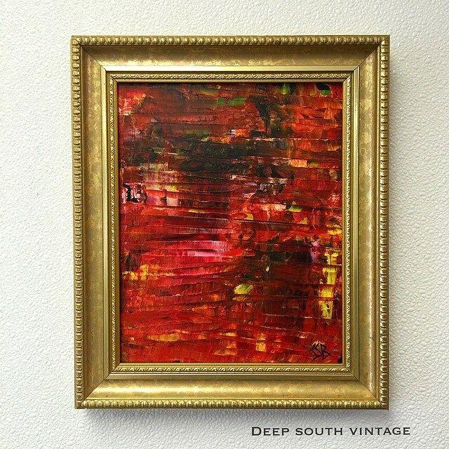 Oil abstract on glass by Deep South Vintage.