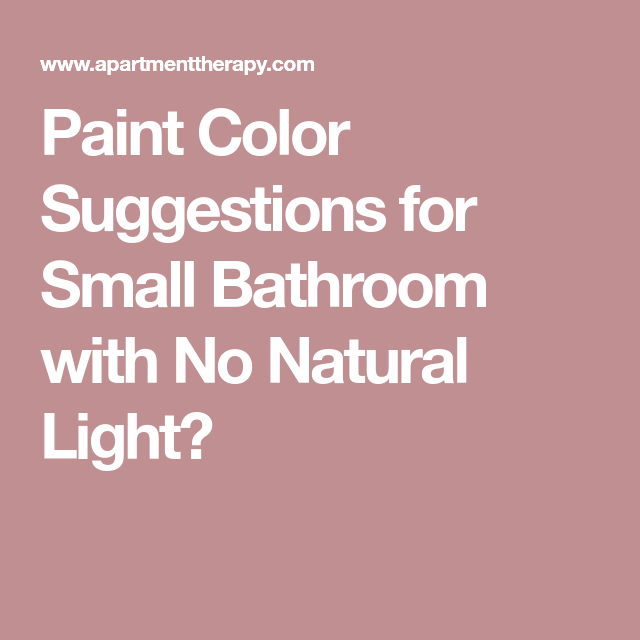 Paint Color Suggestions For Small Bathroom With No Natural