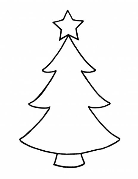 Designcornerus Wp Content Uploads 2017 03 Christmas Tree Drawing Outline Picture Outlines Simple Photo