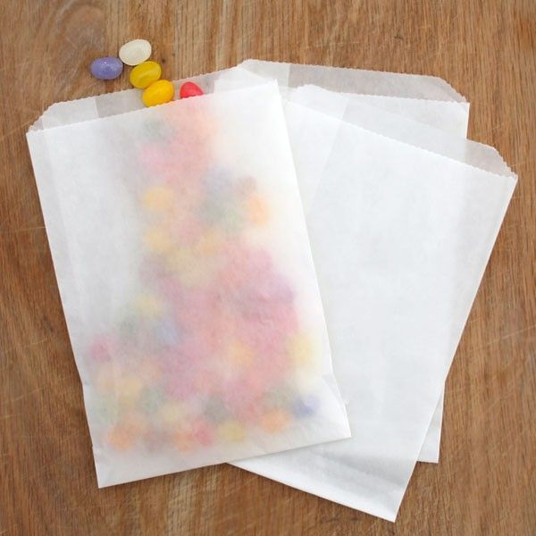 c09b087faa0 10 Waxed Milkywhite  Glassine  Bags - Available in 4 sizes