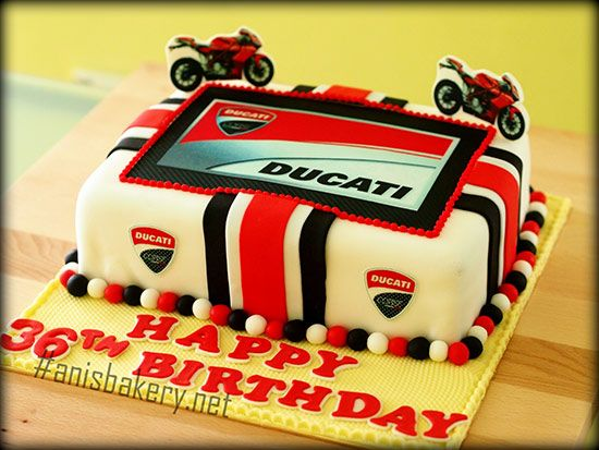 Ducati Motorcycle Birthday Cake Bikers Motorcycle Love