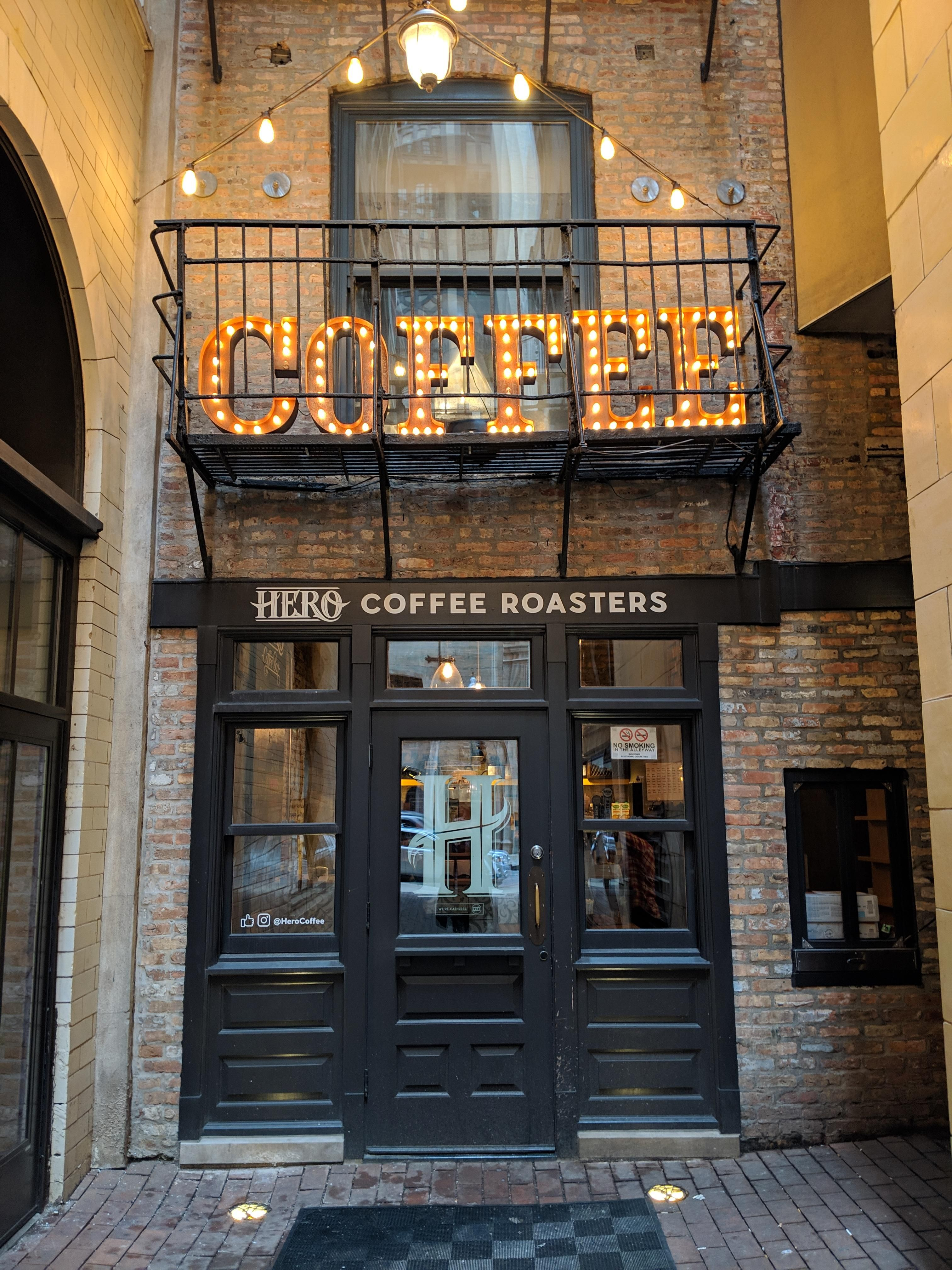 Hero coffee roasters chicago check out to