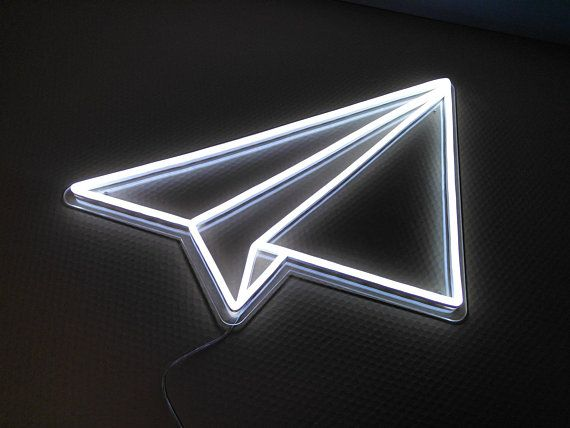 Read the full title Paper Plane LED Neon Sign