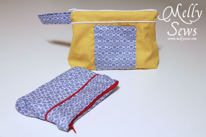 Another zipper pouch. I told you I got addicted fast. This one was made mostly using this tutorial from Sew Together. I liked that it was a little more tailored and that the flat bottom gave this room for more items – I'm envisioning it being used as a makeup bag, maybe? Or even a Read the Rest...