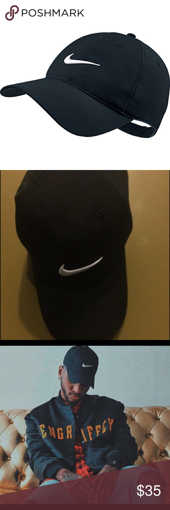 ... sale black white adjustable hat cap cap nike dri fit cap bryson tiller  b27d6 0fde3 1f9c871ffb23