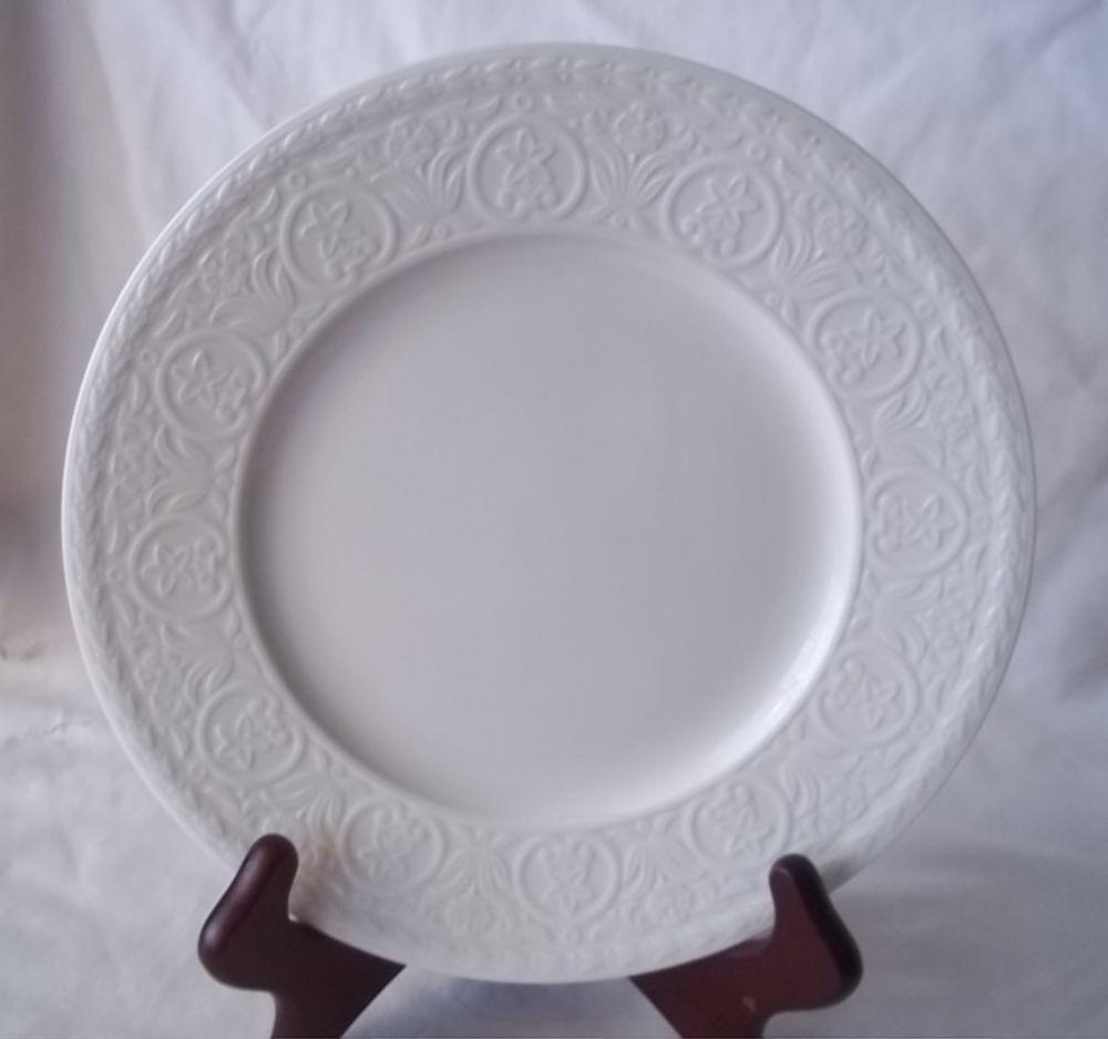 mikasa casa blanca hk224 salad plate white fine china super strong ultima mikasa