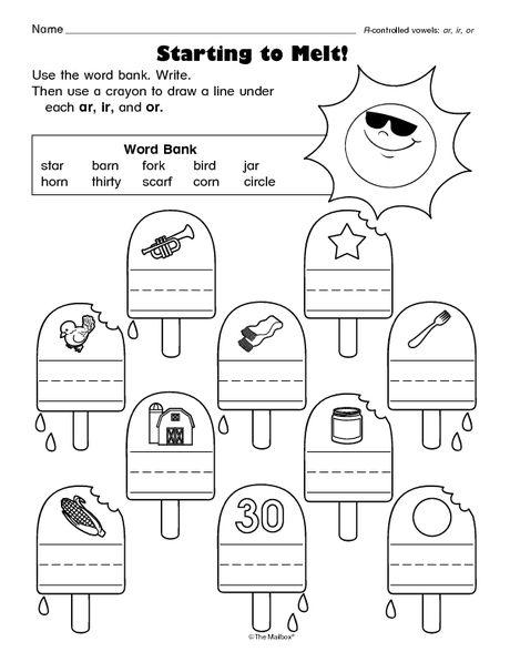 worksheet r controlled vowels language arts pinterest worksheets phonics and literacy. Black Bedroom Furniture Sets. Home Design Ideas