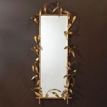 Global Views Bamboo Mirror Wgold Finish Opulentitemscom Stuff - Unique-wall-mirrors-from-opulent-items