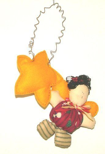 Hanging From A Star Angel Wall Hanging . $9.98. Hanging From A Star Angel Wall Hanging. Stars are made from felt  and angel is made from cloth and stuffed.