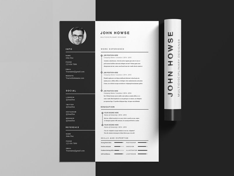 Howse Free Indesign Cv Template Julian Ma On Dribbble Desain