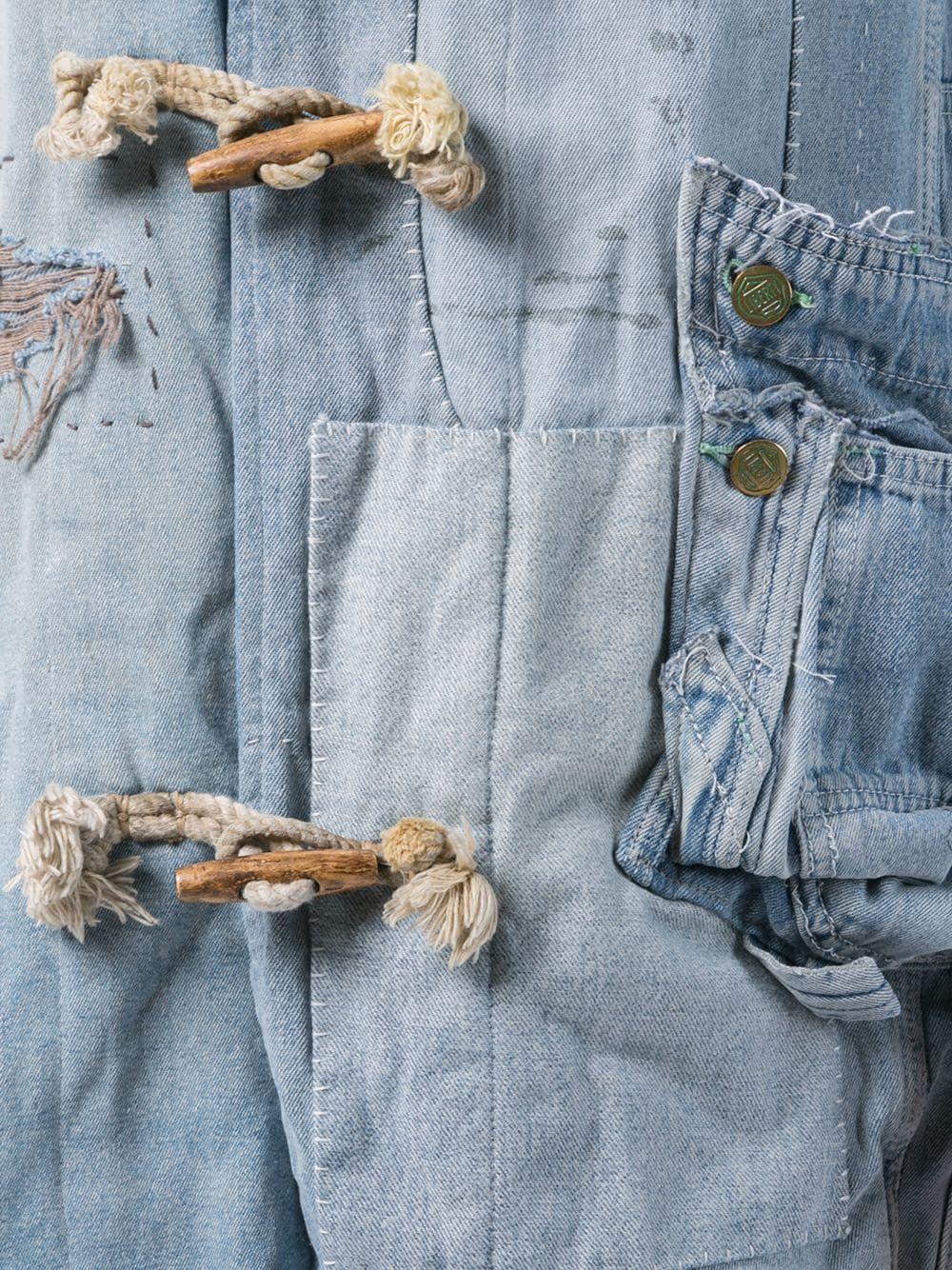 Greg Lauren Mittellange Jeansjacke | Jeansjacke, Jacken, Jeans