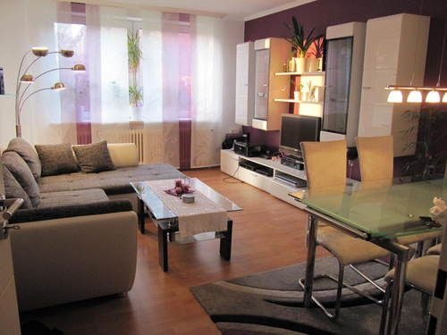 Komplettes Wohnzimmer Modern,Wohnwand Weiss Hochglanz,Eck Couch,Essecke
