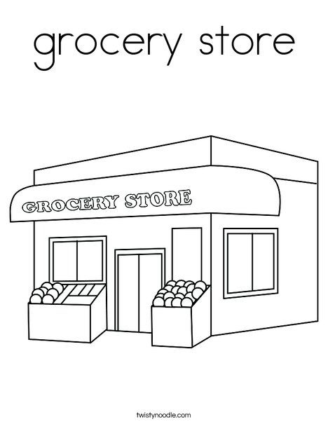 Grocery Store Coloring Page Pattern Coloring Pages Grocery