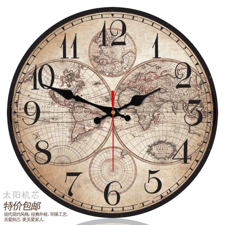 World Map Wall Clock | Home | Pinterest