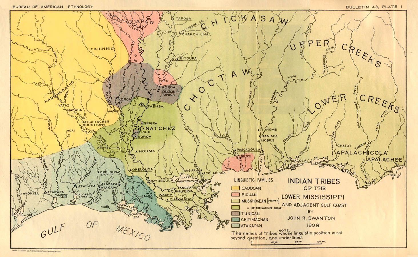 Map Of Tennessee Indian Tribes
