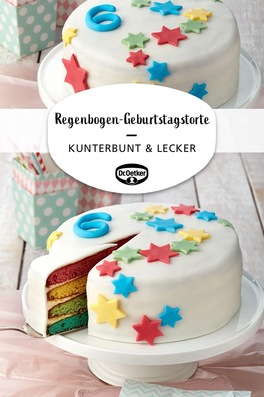Regenbogen Geburtstagstorte Rezept Geburtstagstorte Torte Kindergeburtstag Und Backen Kindergeburtstag