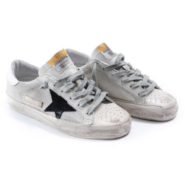 Golden Goose Sneakers (€246) ❤ liked on Polyvore featuring shoes, sneakers, italist, grey cord gum, grey shoes, grey sneakers, golden goose shoes, golden goose et gray sneakers