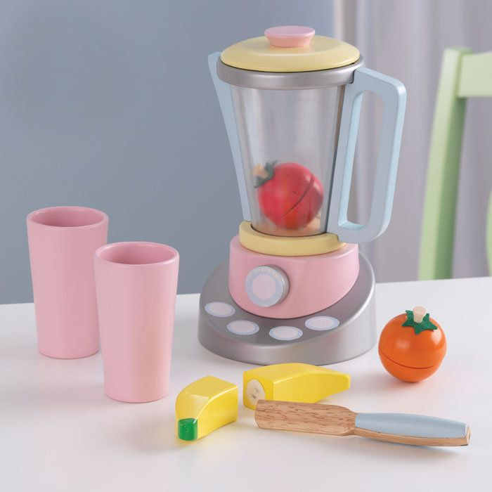KidKraft Children s Wooden Pastel Smoothie Set with Toy Fruit ...