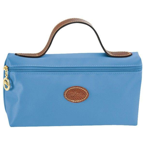 Sac Longchamp Trousse De Toilette Bleu Paon | Longchamp handbags ...