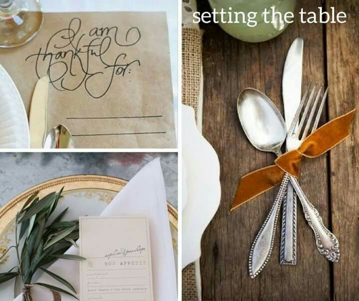 Thanksgiving is just around the corner and it's time to decorate for the gathering of family and food. Get inspired by these thoughtful, yet simple, ideas. #thanksgiving #placesetting #food #gather