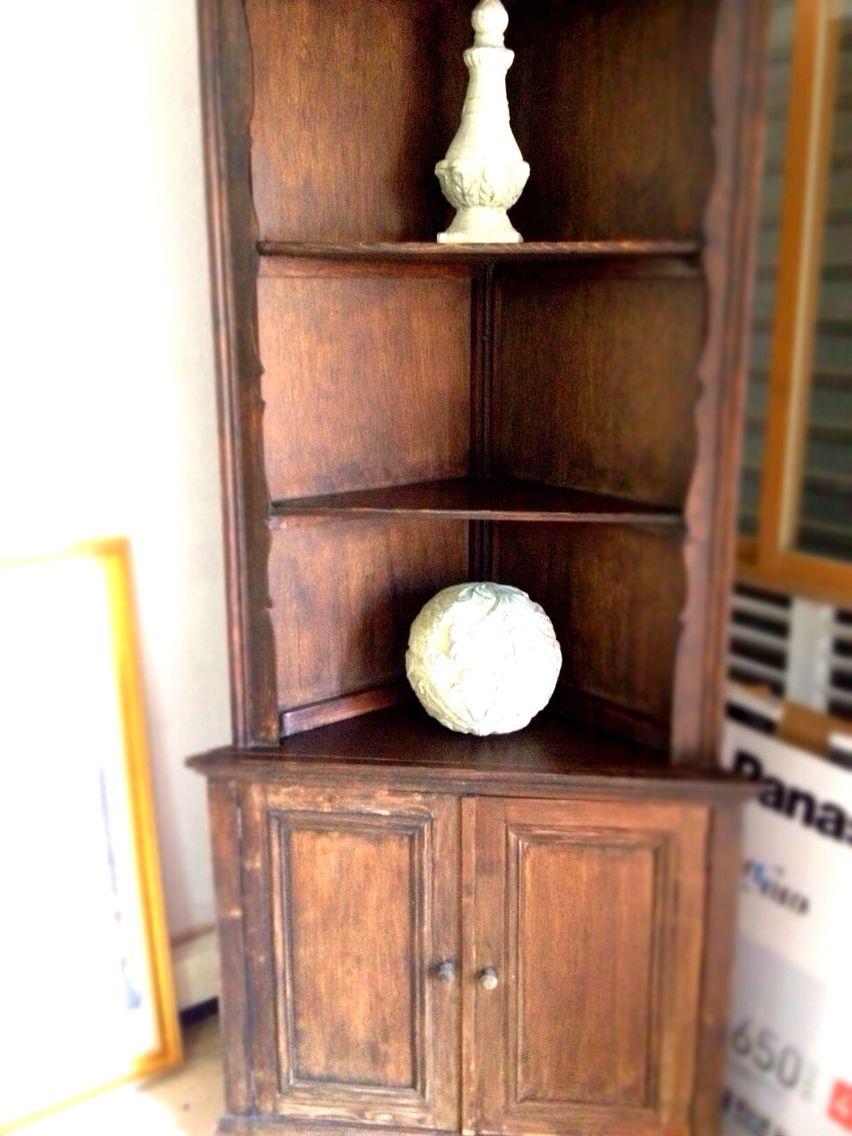 Esquinero en madera rustico madera muebles muebles de for Muebles esquineros de madera