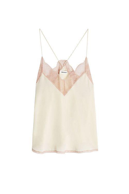 65c6cf224bfef ZADIG   VOLTAIRE Lace Trim Silk Cami Top.  zadigvoltaire  cloth ...