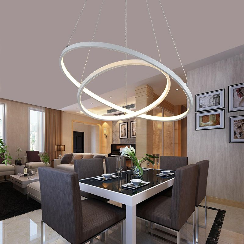 Shop For Modern Simple Led Pendant Light Metal Acrylic White Warm White Light Led Patch C Living Room Lighting Dining Lighting Pendant Lighting Dining Room