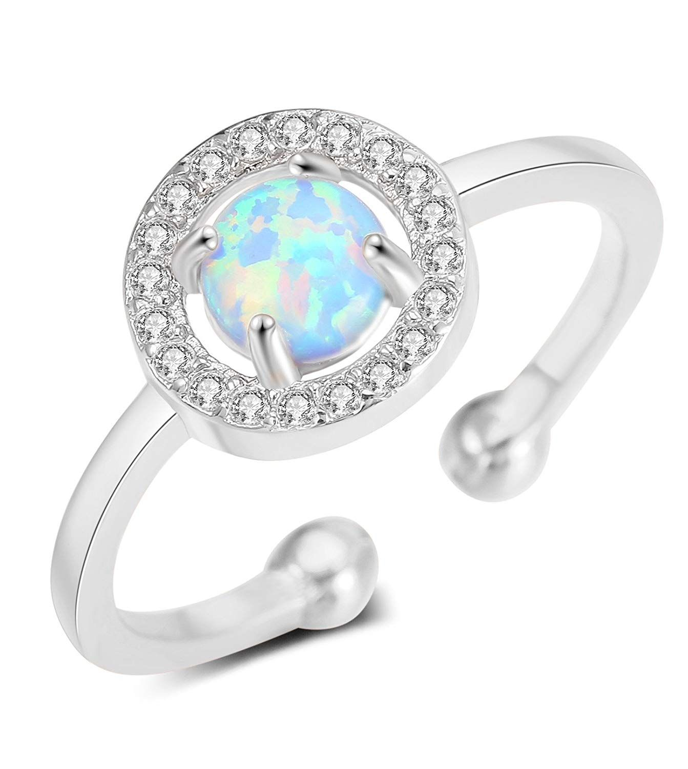 99c4169b2208c Hanpabum Cute CZ and Opal Rings for Women Teen Girls Gold and Rose ...