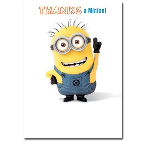 48bffb746eed44138fd6a76c5d0e4f09 thanks a minion thank you card minions pinterest