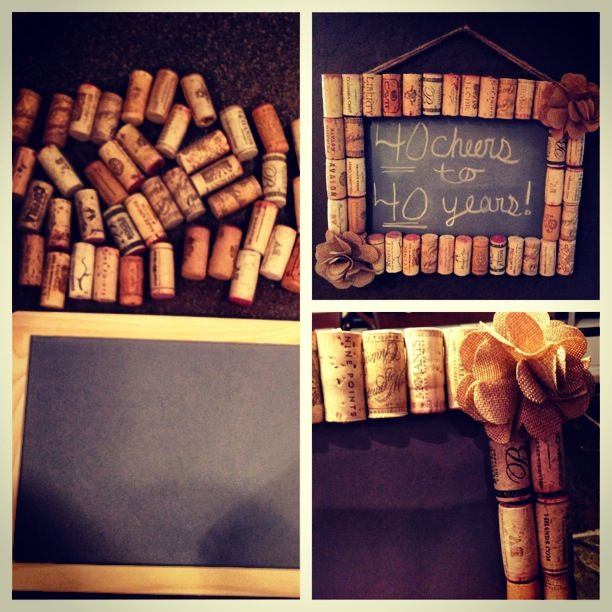 Gift for a friend's 40th...made w 40 corks