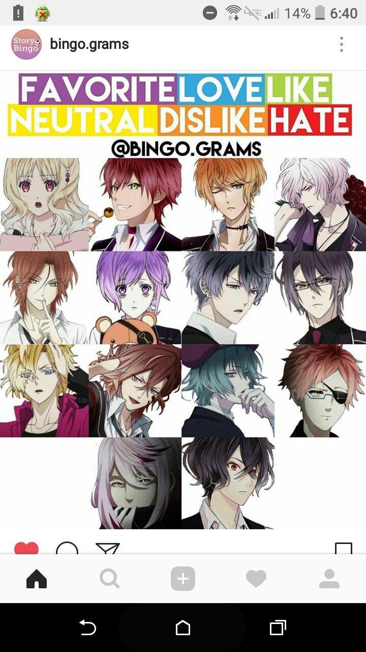 Pin de ☆margot☆ em Anime Bingo
