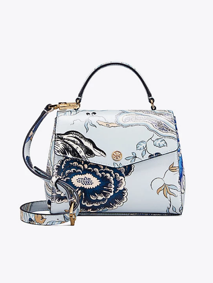 bcfc14b09fc0 Tory Burch Robinson Floral Small Top-Handle Satchel
